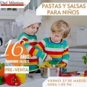 Pastas y salsas para niños