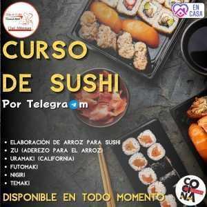 Taller de Sushi vía Telegram